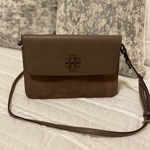 Tory Burch Suede and Leather McGraw Crossbody